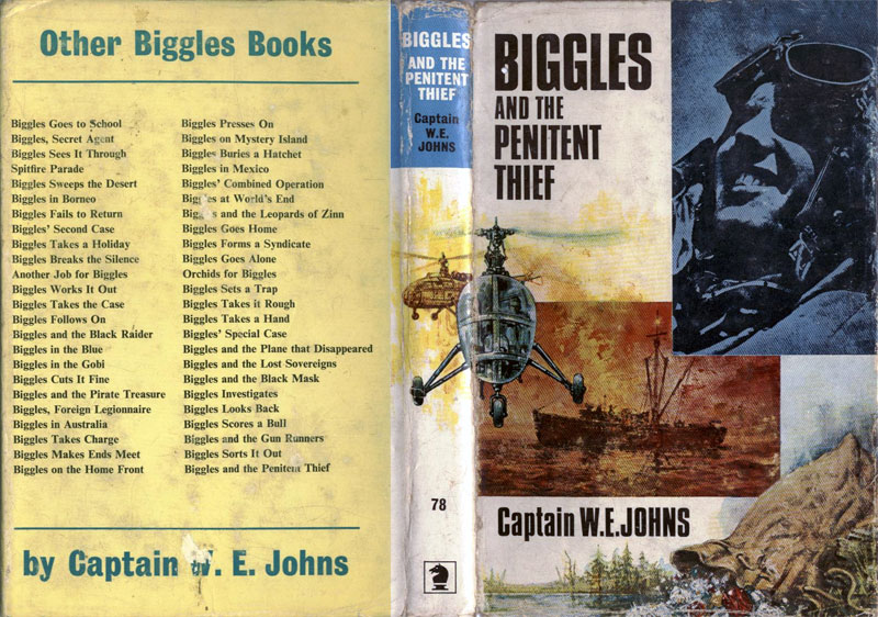 Biggles and the Penitent Thief - Dust jacket of 90-01