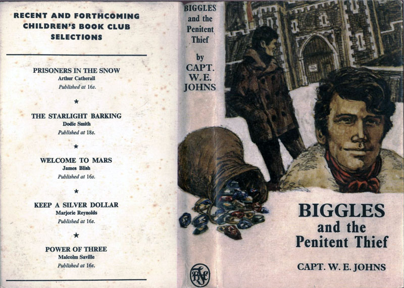 Biggles and the Penitent Thief - Dust jacket of 90-02