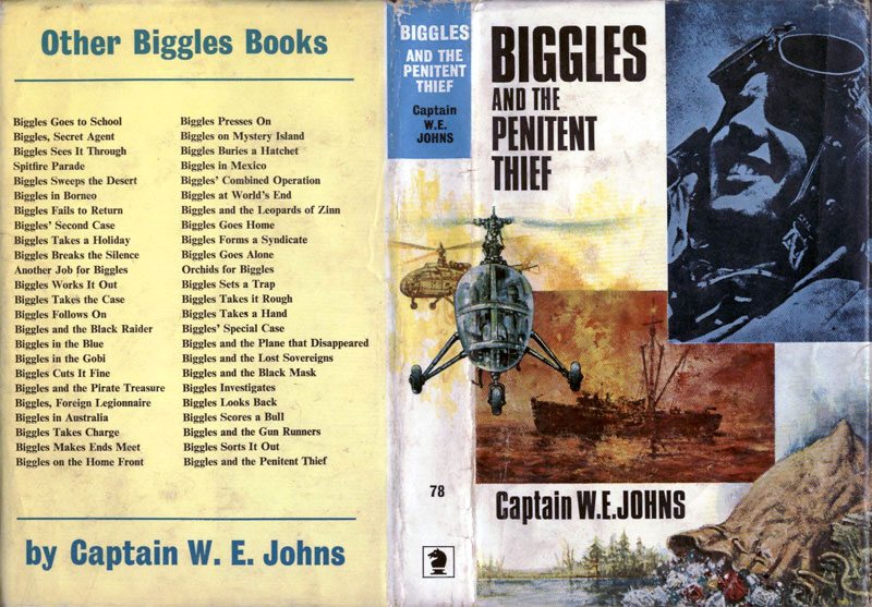 Biggles and the Penitent Thief - Dust jacket of 90-03