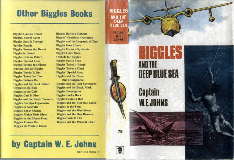 Biggles and the Deep Blue Sea - Dust jacket of 91-01