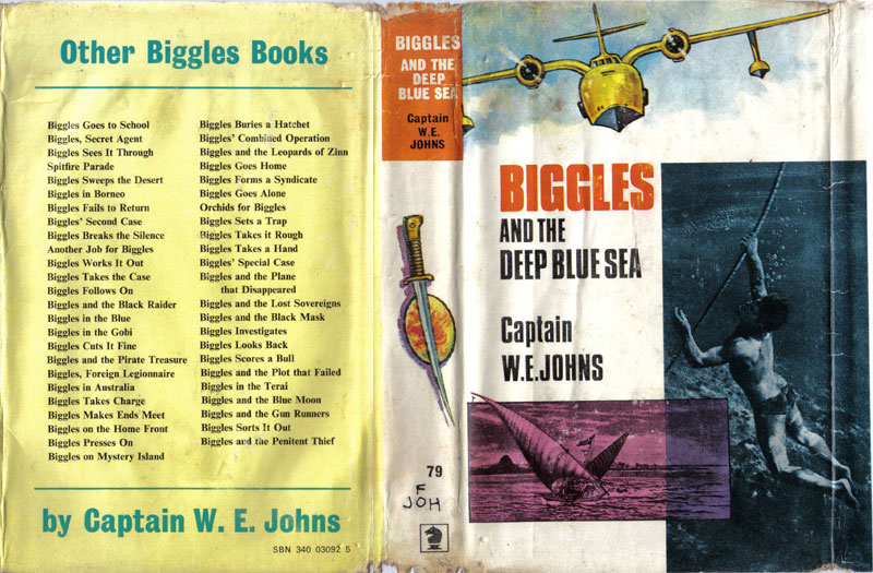 Biggles and the Deep Blue Sea - Dust jacket of 91-03