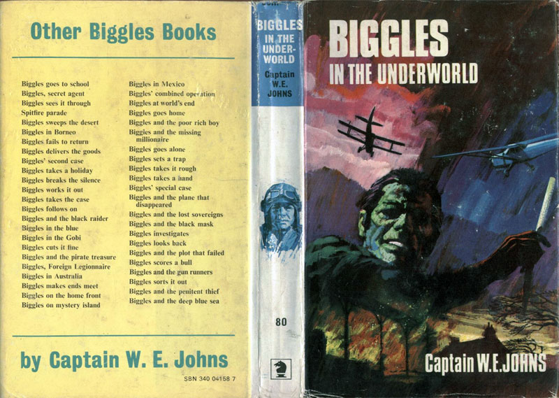 Biggles in the Underworld - Dust jacket of 93-01