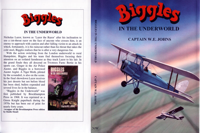 Biggles in the Underworld - Dustjacket of 93-06