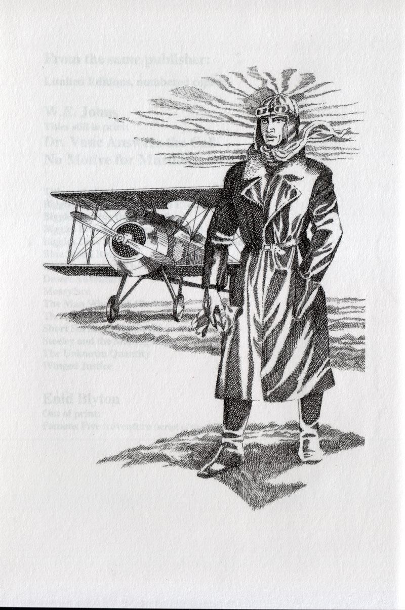 Biggles Air Ace - Frontis illustration of 98-02