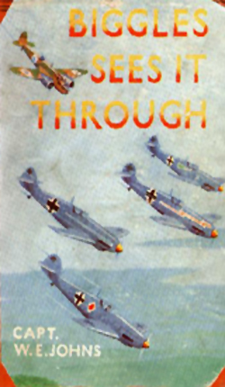 Biggles Sees It Through - Cover for 23-01